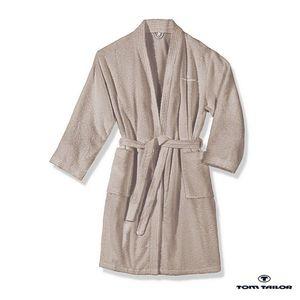 Frottier Kimono Bademantel - Sand - S, Tom Tailor