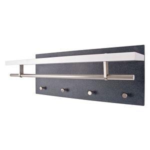 Garderobenpaneel Plitka - Granit Dekor / Weiß, Home Design