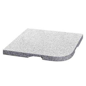Beschwerungsplatte Hillsboro für Schirmständer - Granit - Grau, Delschen