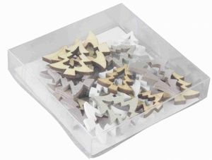 Streudeko - Tannenbäume - 24 Teile