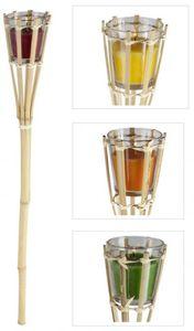 Gartenfackel - Citronella - aus Bambus - 7,5 x 7,5 x 76 cm - 1 Stück