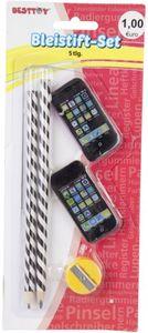 Bleistift-Set - Handy - 5-teilig