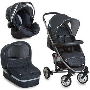 Hauck - Travelsystem California Trio Set, Melange Charcoal
