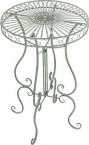 handgefertigter runder Eisen-Tisch SHIVA in nostalgischem Design, Durchmesser Ø 64 cm (aus bis zu 6 Farben wählen)