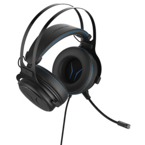 MEDION ERAZER X83017 7.1 Surround Gaming Headset mit High-Performance-USB-Adapter, Noise-Reduction, Over Ear-Design, leistungsstarker Bass, schwarz