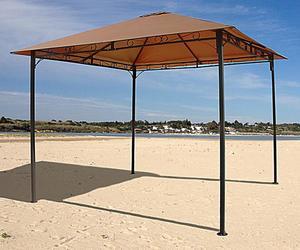 Grasekamp Ersatzdach zu Gartenpavillon Antik  Pavillon Partyzelt 3x3m Taupe