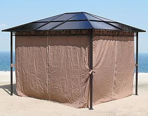 Grasekamp 4 Seitenteile zu Hardtop Pavillon 3x3,6m  Doppelstegplatten Polycarbonat