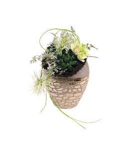 Seidenblumen-Arrangement Proteaund Nelke
