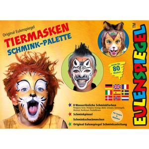 Eulenspiegel Tiermasken Schmink-Palette