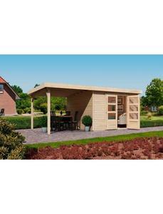 Set: Gartenhaus »Arnis 4«, Gesamtmaß (BxT): 522x237 cm, Inkl. Anbau
