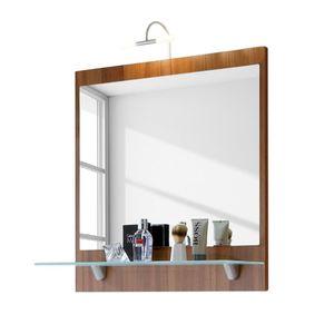 Badezimmerspiegel Arizona - Walnuss-Nachbildung-weiß, Posseik