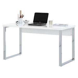 Schreibtisch Paddington - Hochglanz Weiß, Fredriks