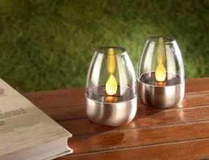 Solar Kerzen mit LED Flackerlicht - 2er Set Wetelux