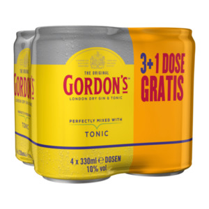 Gordon's London Dry Gin & Tonic 3 + 1