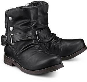 Winter-Biker-Boots von Buffalo in schwarz für Damen. Gr. 36,37,38,39,40,41,42