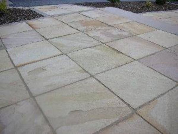 Trendline Sandstein Terrassenplatten 30 X 30 X 2 5 Cm Gelb Beige