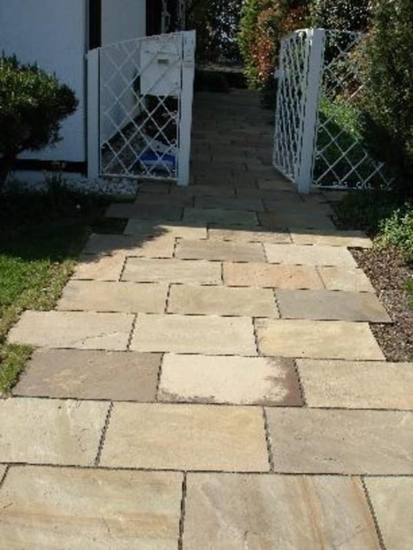 Trendline Sandstein Terrassenplatten 60 X 30 X 2 5 Cm Gelb Beige