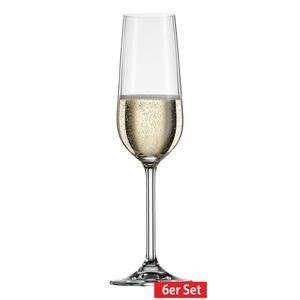 BOHEMIA CRISTAL 6er Set Glas /Sektglas je 190 ml SIMPLY