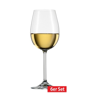 BOHEMIA CRISTAL 6er Set Weinglas /Weißweinglas je 340 ml SIMPLY