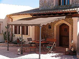 "Anbaupergola ""Mallorca"" (Farbe: taupe)"