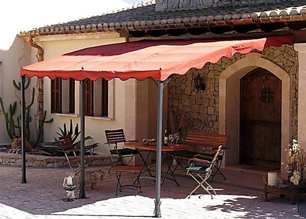 "Anbaupergola ""Mallorca"" (Farbe: terra)"
