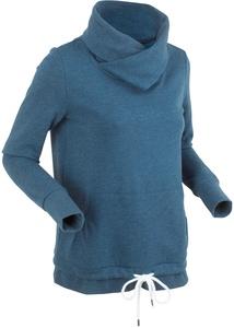 Langärmliger Sweat-Hoodie mit Bindefunktion am Saum
