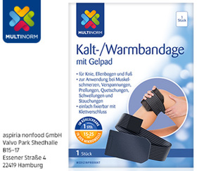 MULTINORM Kalt-/Warmbandage mit Gel Pad