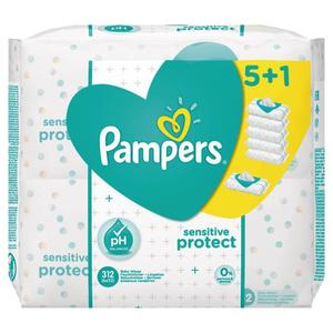 Pampers sensitive protect Feuchttücher 5+1 Multipack