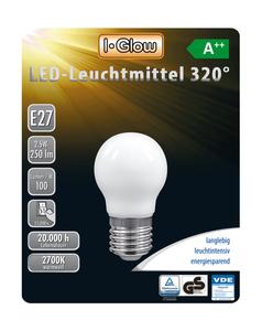I-Glow LED Leuchtmittel Mini Globe E27 5er-Pack