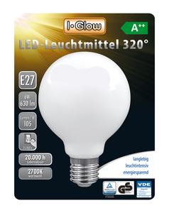 I-Glow LED Leuchtmittel Globe E27 3er-Pack