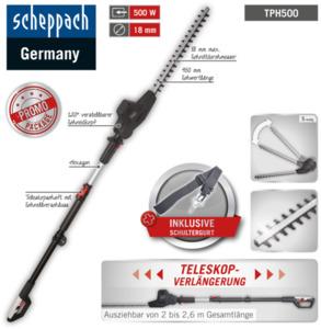 Scheppach 500 W Teleskop-Heckenschere Elektro TPH500