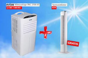 Eycos Klimaanlage PAC2100AT + Gratis Turmventilator