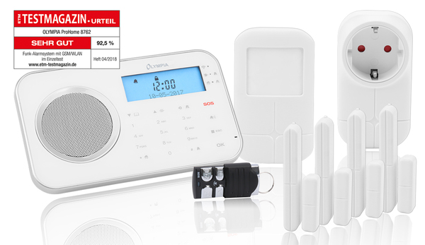 Olympia Smart Home Funk-Alarmanlage ProHome 8762