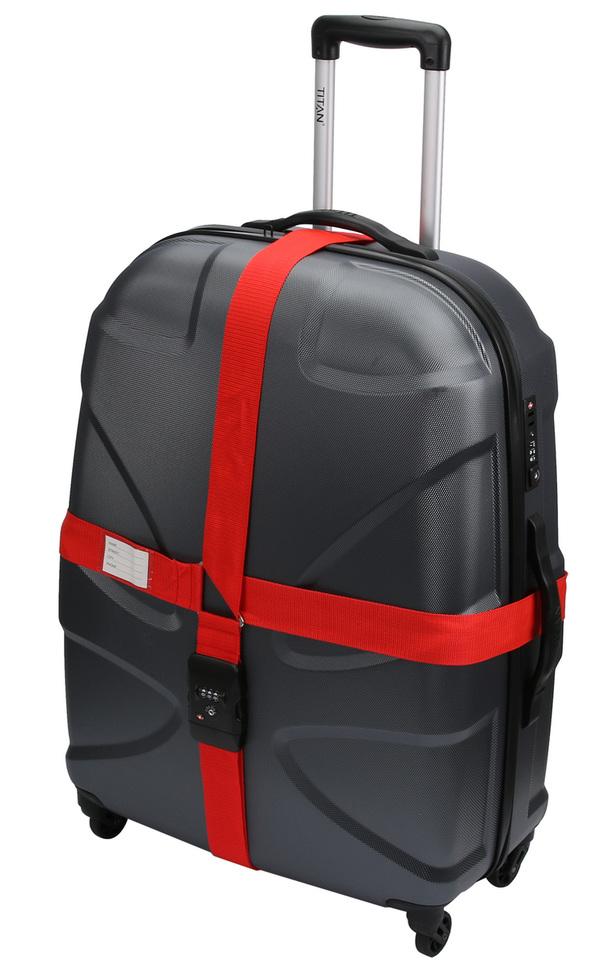 Olympia TSA 400 Kreuz-Koffergurt, rot