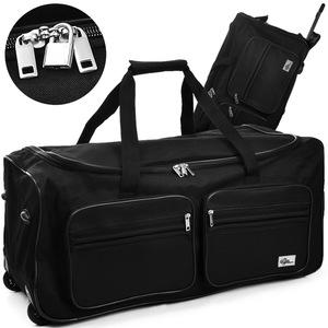 Deuba Große Reisetasche 85L schwarz