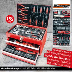 Mannesmann Werkzeugbox 155-teilig