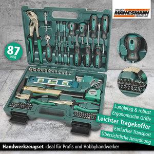 Mannesmann Werkzeugkoffer, 87-tlg.