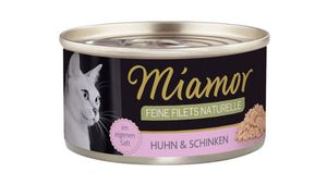 Miamor Katzennassfutter Feine Filets naturelle Huhn & Schinken