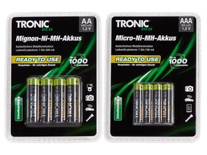 TRONIC® Ready to use - NiMH-Akkus