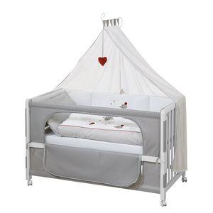 Room Bed Adam & Eule - Weiß/Grau, Roba