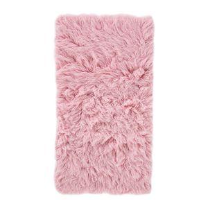 Teppich Flokati - Wolle - Rosa - 60 x 120 cm, andiamo