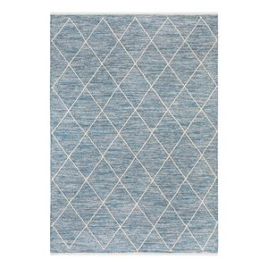 Teppich Pantin - Baumwollstoff - Mittelblau - 170 x 240 cm, Luxor living