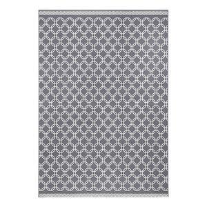 Teppich Chain - Kunstfaser - Grau / Creme - 140 x 200 cm, Zala Living