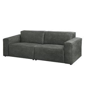 Sofa Manchester (3-Sitzer) Antiklederlook - Dunkelgrau, ars manufacti