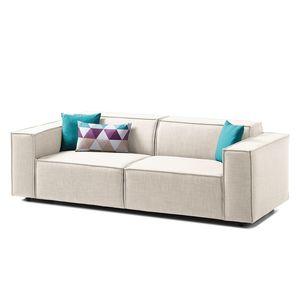 Sofa Kinx (2,5-Sitzer) Webstoff - Keine Funktion - Stoff Milan Altweiß, Kinx