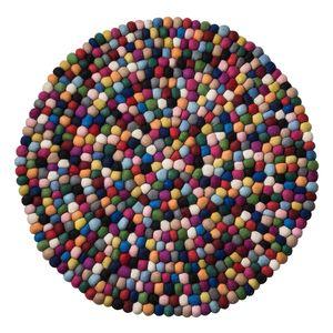 Filzteppich Vaila - Filz - Multicolor - Ø 90 cm, Studio Copenhagen