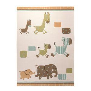 Teppich ESPRIT Lucky Zoo - Beige/Bunt - 120 x 180cm, Esprit Home