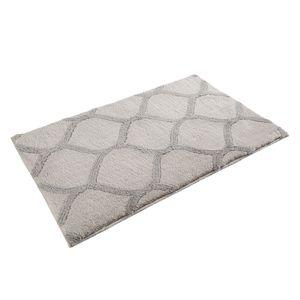 Badteppich Oriental Tile - Kunstfaser - Weiß / Grau - 60 x 100 cm, Esprit Home