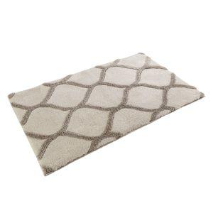 Badteppich Oriental Tile - Kunstfaser - Beige / Grau - 60 x 100 cm, Esprit Home