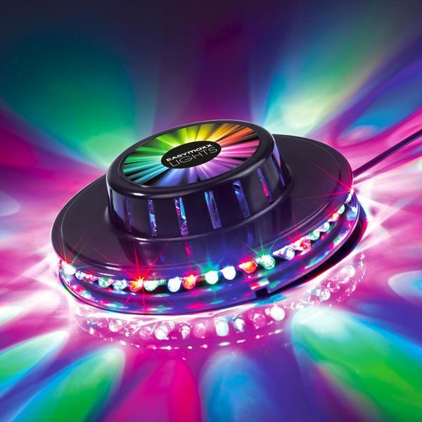EASYmaxx LED-Party-Lichtrad Galaxy 5W schwarz